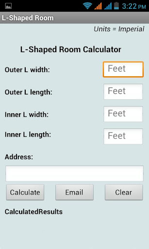 L Shaped Room Calculator