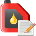 fuel book, gas & mileage log icon