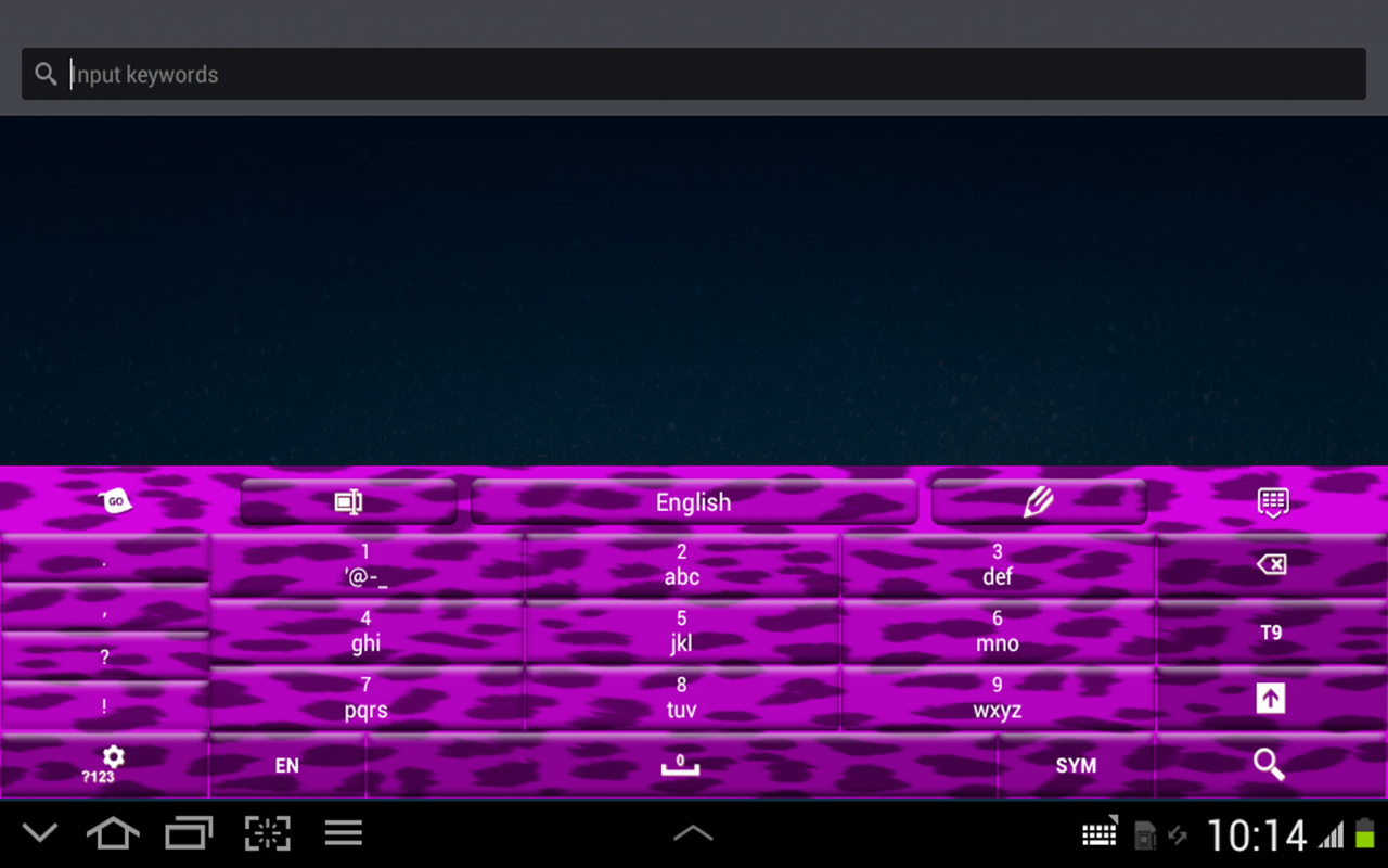 Purple Cheetah Keyboard Theme- screenshot