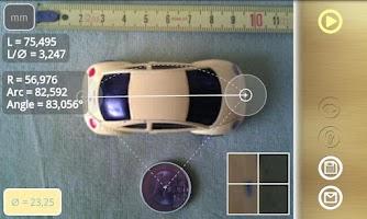 Screenshot of Diskometer - camera measure