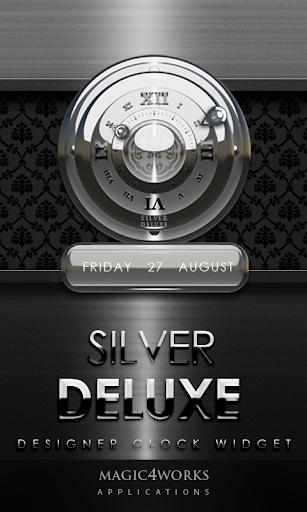 Silver Deluxe Clock Widget