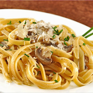Truffled Fettuccine with Creamy Mushroom Sauce Recipe