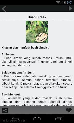 【免費書籍App】Manfaat Buah & Sayur-APP點子