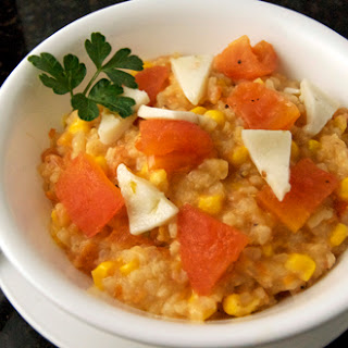 Roasted Tomato & Goat Cheese Risotto