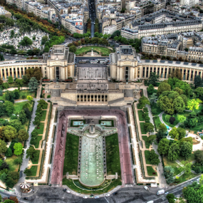 Scene from the Eiffel Tower - Paris France by Peter Keast - Buildings & Architecture Public & Historical ( eiffel tower, paris, tourism, france,  )