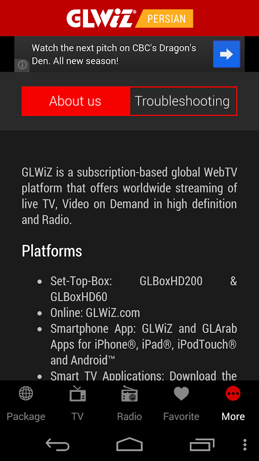 GLWiZ - screenshot