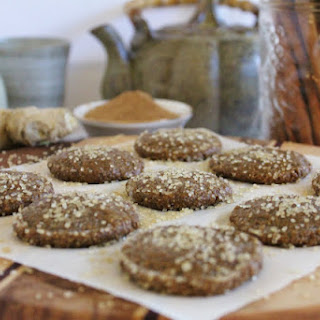 Raw Gingersnap Cookies.