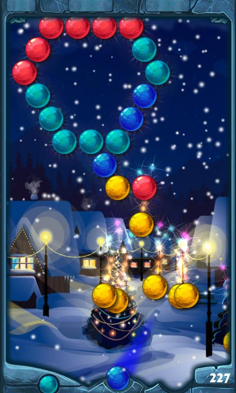 Winter Christmas Bubble Shoot- screenshot