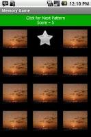 Screenshot of Memory Game