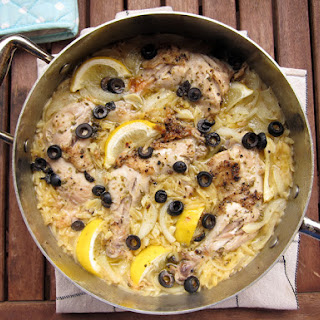 Chicken And Orzo With Lemon And Olives