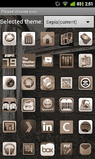 Sepia Theme for GO Launcher EX- screenshot thumbnail