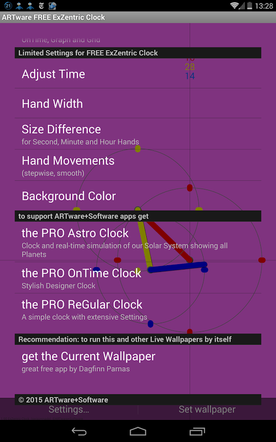 ExZentric Clock Live Wallpaper- screenshot