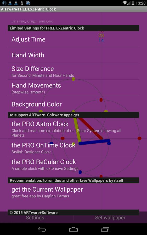 ExZentric Clock Live Wallpaper - screenshot