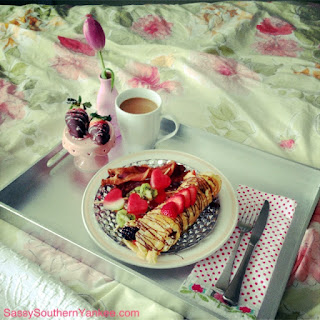 Almond Crepes with Fresh Berries.