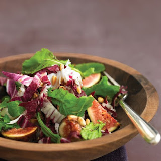 Arugula Salad with Figs, Pine Nuts, and Radicchio.