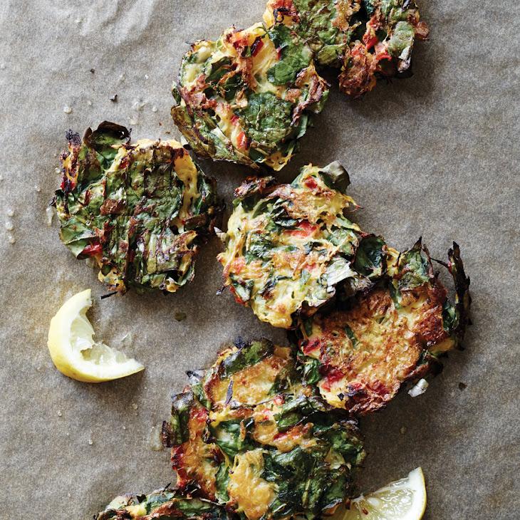 Spinach and Spaghetti Squash Fritters Recipe