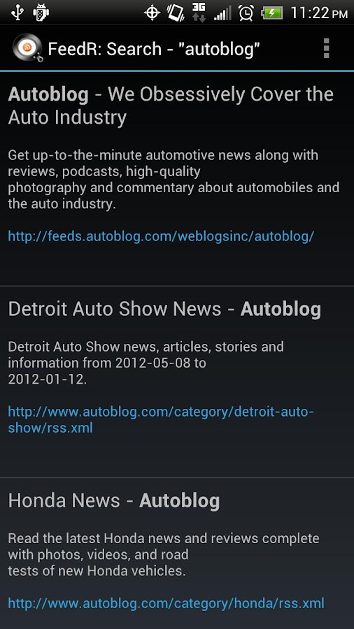FeedR News Reader- screenshot