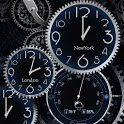 Black Clock Live Wallpaper HD icon