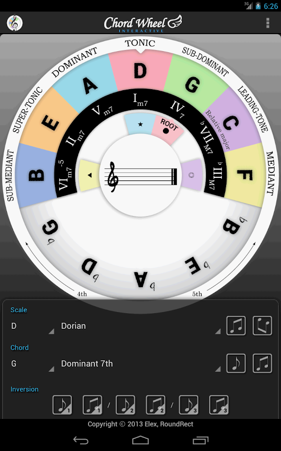 Chord Wheel : Circle of 5ths - screenshot