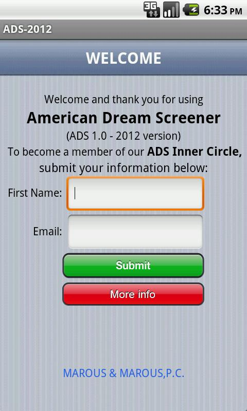 Green Card Screener - screenshot