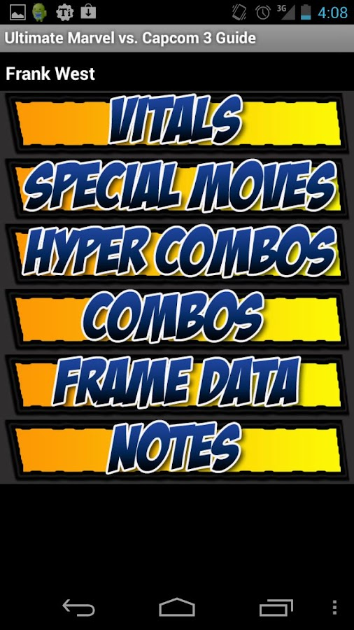 UMvC3 Moves & Frame Data Guide - screenshot
