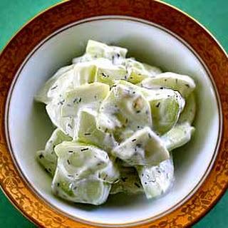 Cucumber Yogurt Salad.