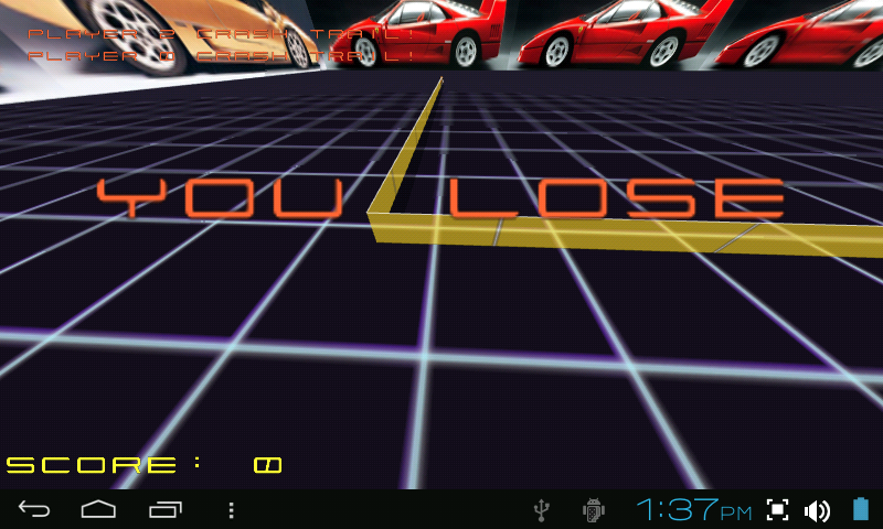 TRON LIGHTCYCLE ROCK RACE GAME- screenshot