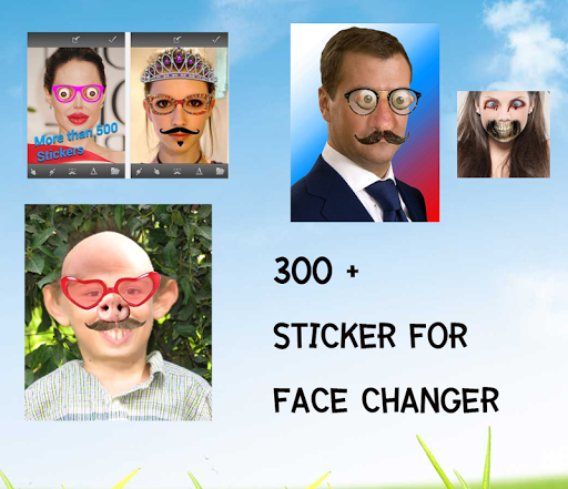 change the face - funny face