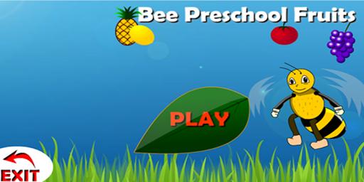 Bee preschool Fruits Free