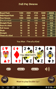 Full Pay Deuces Poker - screenshot thumbnail