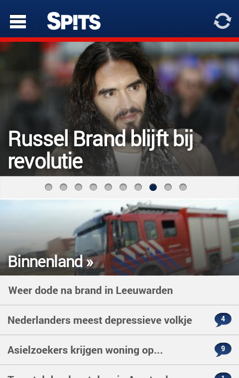 Spitsnieuws - screenshot