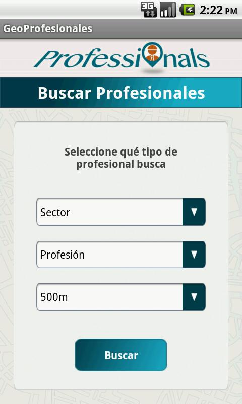 GeoProfesionales - screenshot