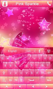 Pink-Sparkle-GO-Keyboard-Theme 3
