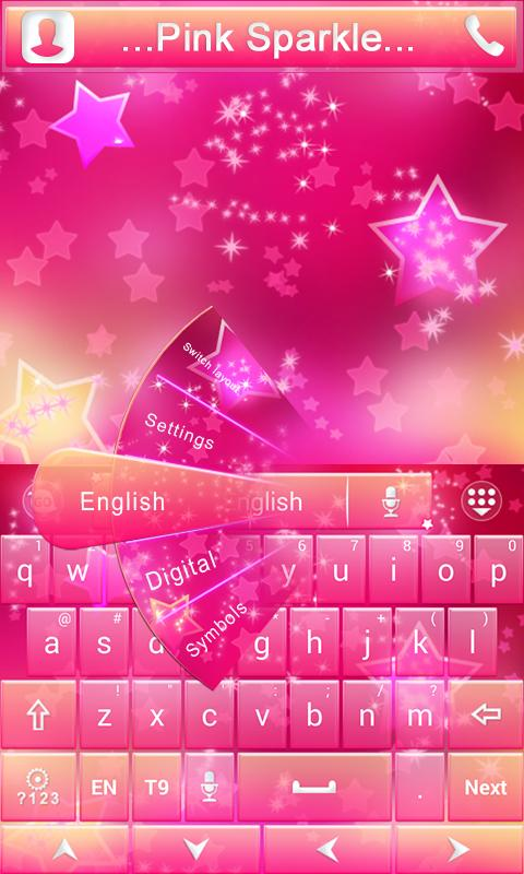 Pink-Sparkle-GO-Keyboard-Theme 10