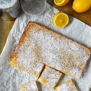 Vegan Lemon Bars with Shortbread Crust