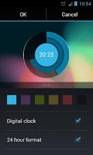 Holo Clock Widget - screenshot thumbnail