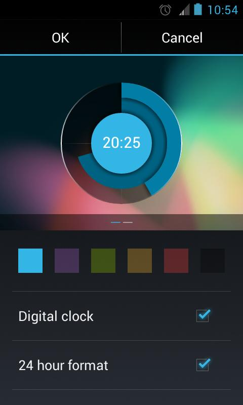 Holo Clock Widget - screenshot