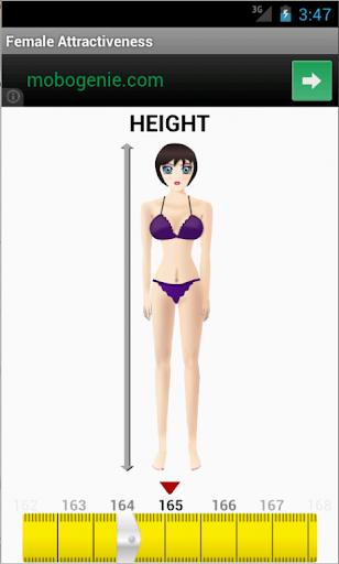 Female attractiveness calc