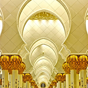 pillars infite by Rami Asaad - Buildings & Architecture Places of Worship ( grand mosque, fine art, artistic, abu dhabi, pillars )