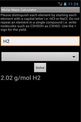 【免費教育App】Molar Mass Calculator-APP點子