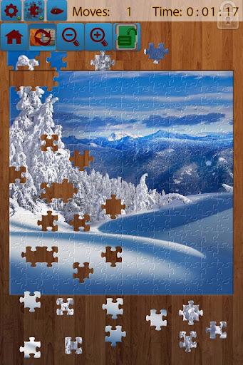 雪の風景のジグソーパズル