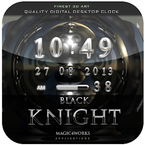 black knight digital clock