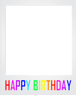 Happy Birthday Polaroid Frame