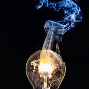 Burn Out by Stephen Hayward - Digital Art Things ( canon, nz, burn out, light bulb, new zealand, smoke,  )