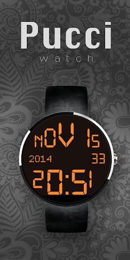 Moto 360 Digital Black Orange