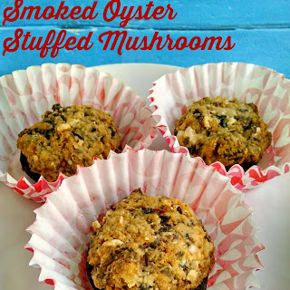 Smoked Oyster Stuffed Mushrooms