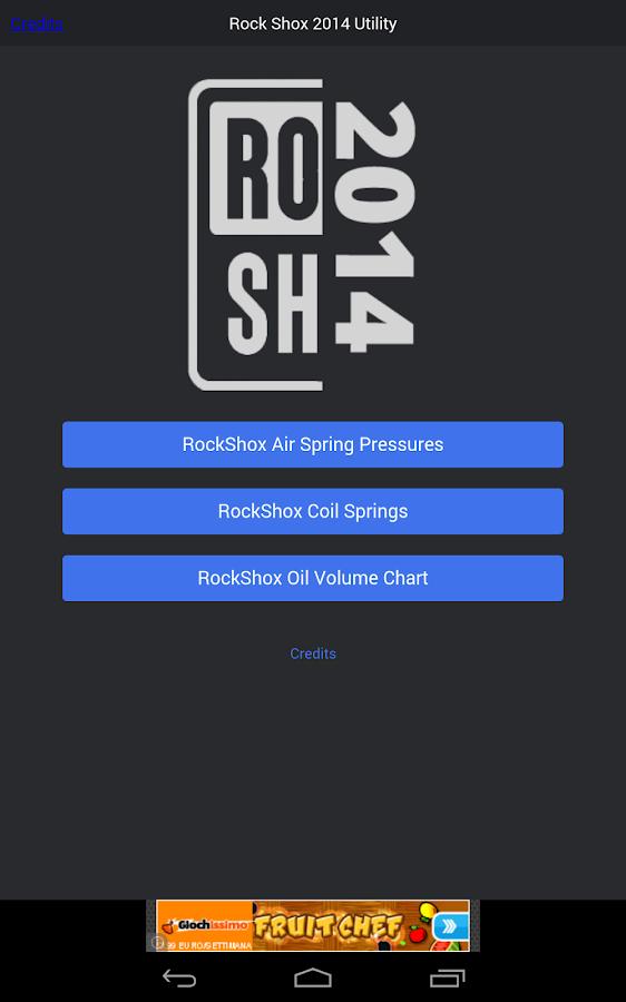 Rock Shox Pressure Charts - screenshot