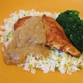 Chicken with Rice and Gravy.