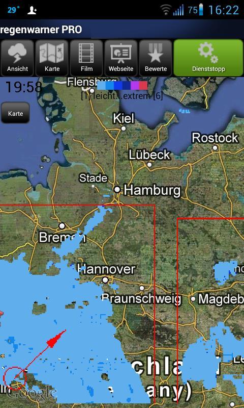 regenwarner PRO - screenshot