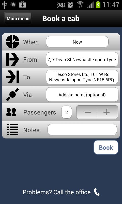 Blueline Taxis Newcastle - screenshot